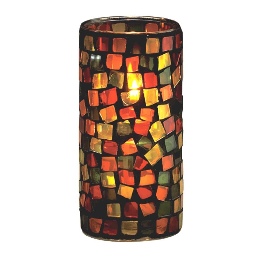 sterno products 80160 rioja hurricane 2 7 8 x 6 earthtone glass liquid candle holder