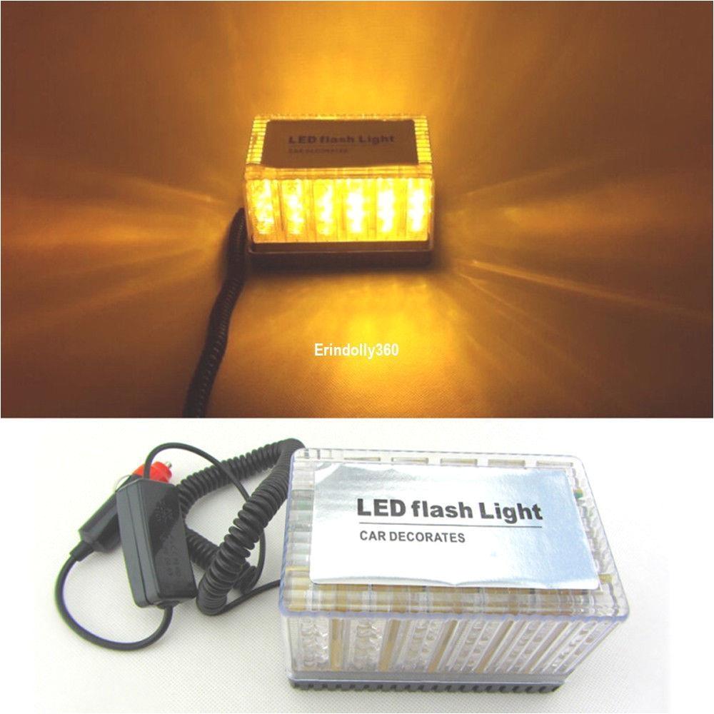 amber 48 led car truck roof top emergency hazard warning strobe flash light lamp car strobe light bar car warning light bar car flashing light bar online