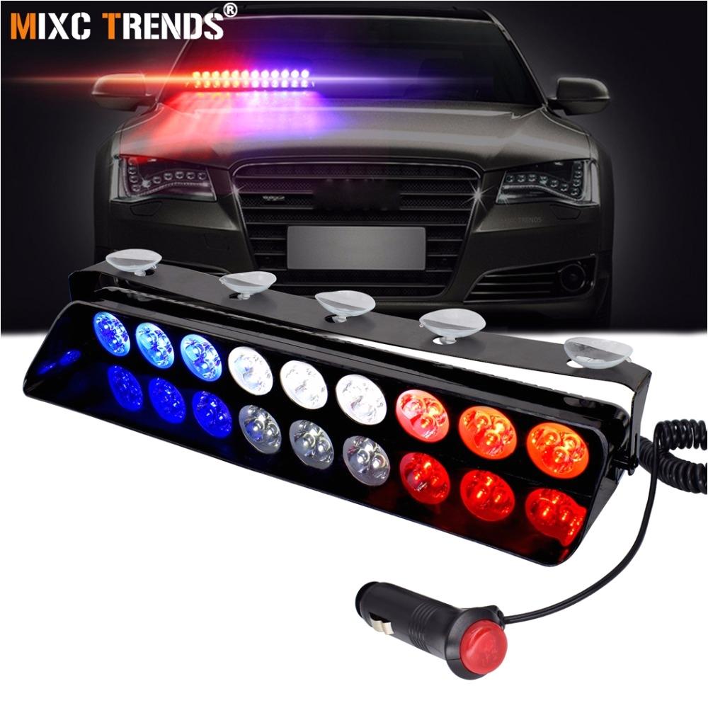 Strobe Light Bar for Trucks Police Dash Light 12v Vehicle Emergency Flashers Windshield Strobe