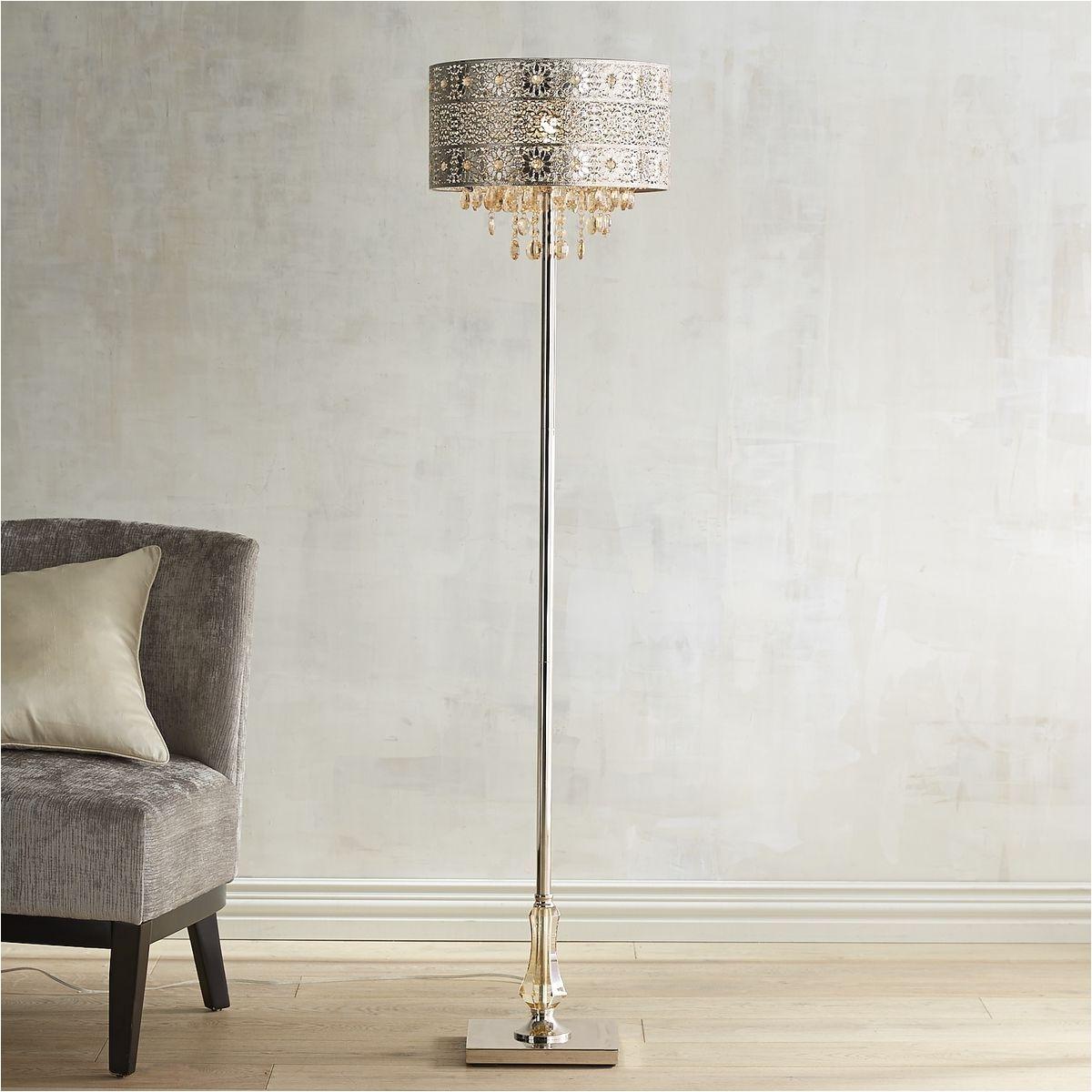 bohemian crystal floor lamp pier 1 imports
