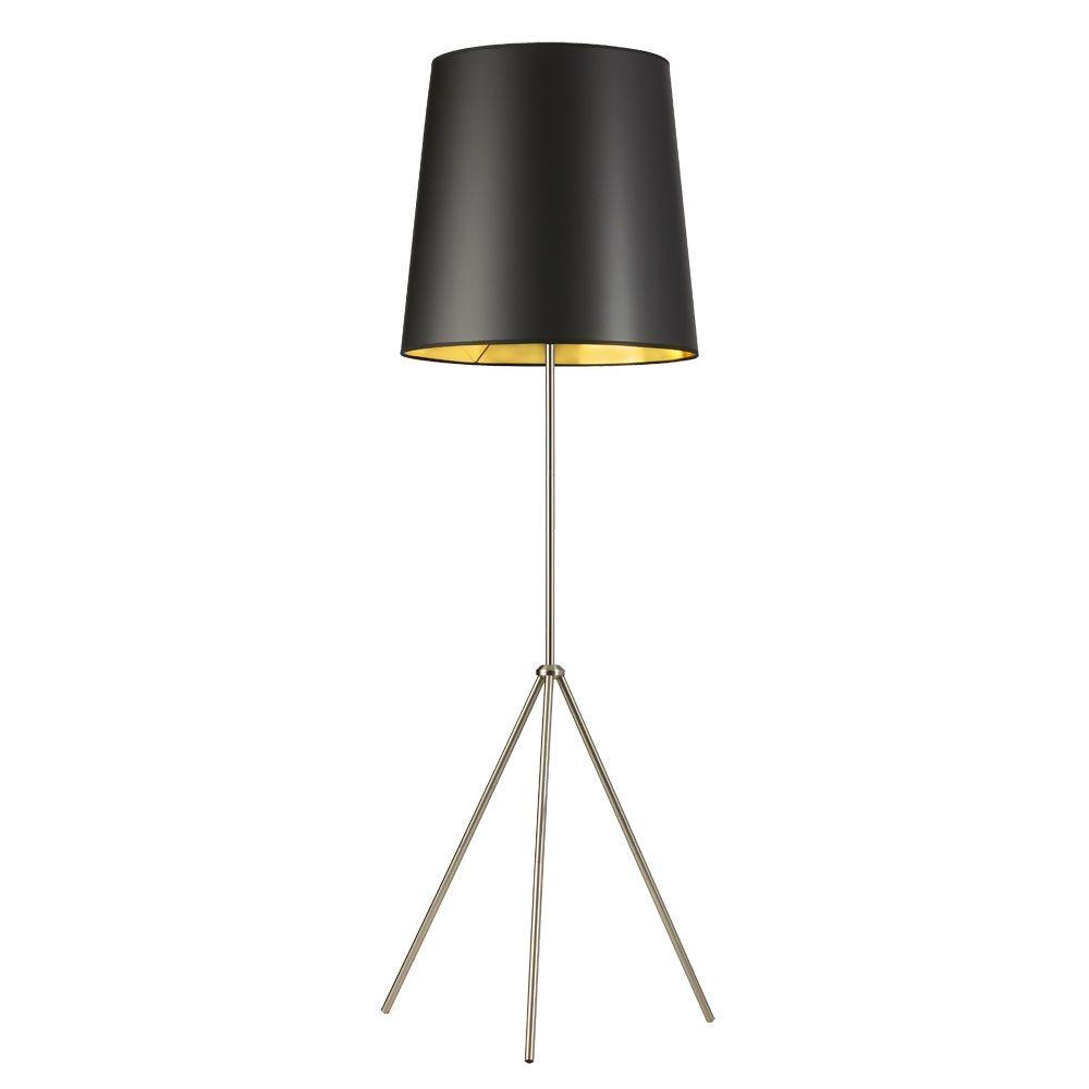 satin chrome floor lamp