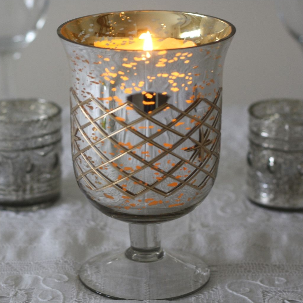 Tea Light Urns Mercury Silver Footed Vase Large Wedding Tables Table Decorations