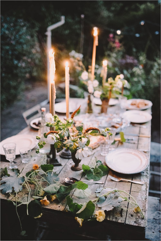 wild flowers candlesticks