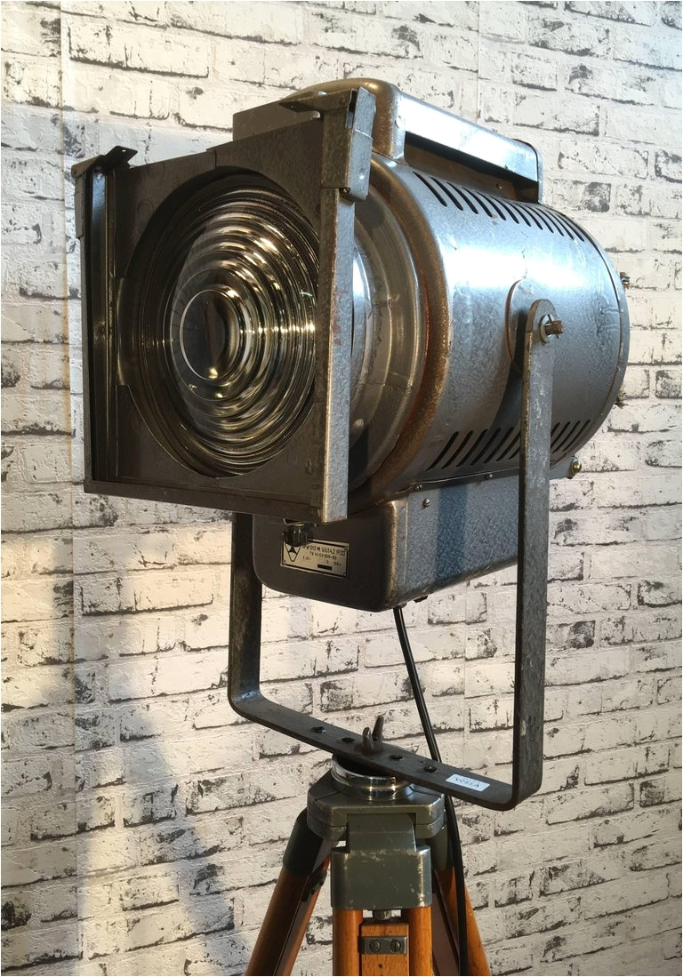 russian industrial theatre spotlight tripod lamp for sale