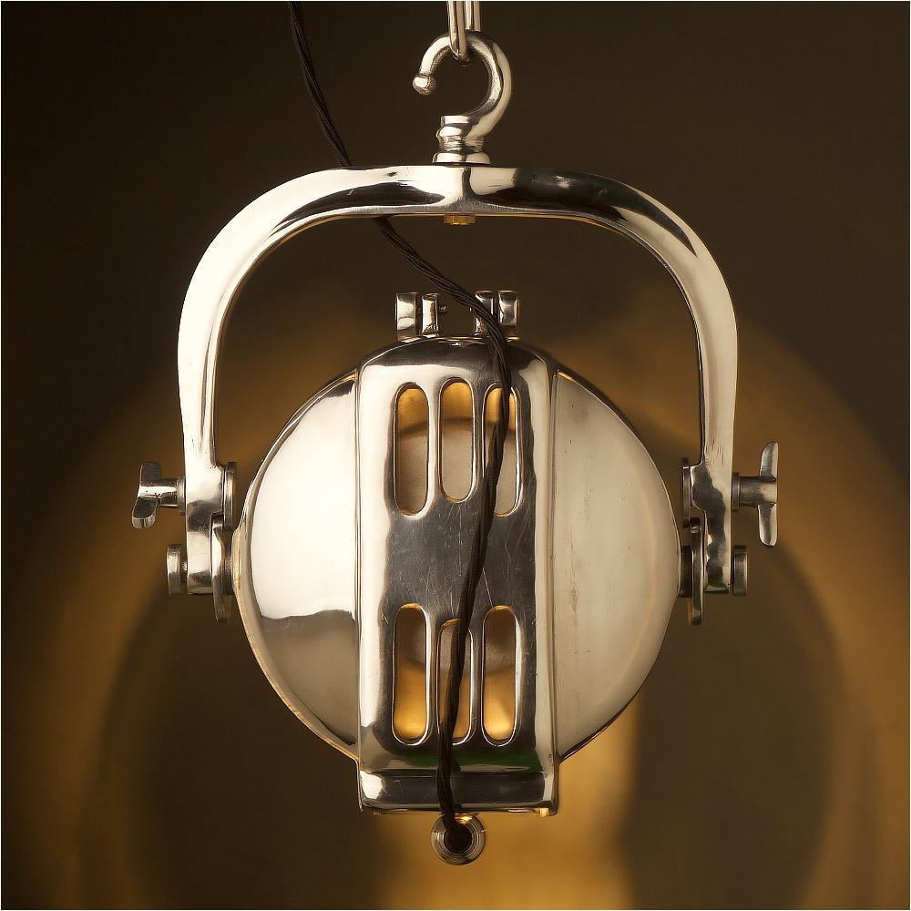 Theatre Spotlight Lamp Polished Aluminum theatre Spotlight
