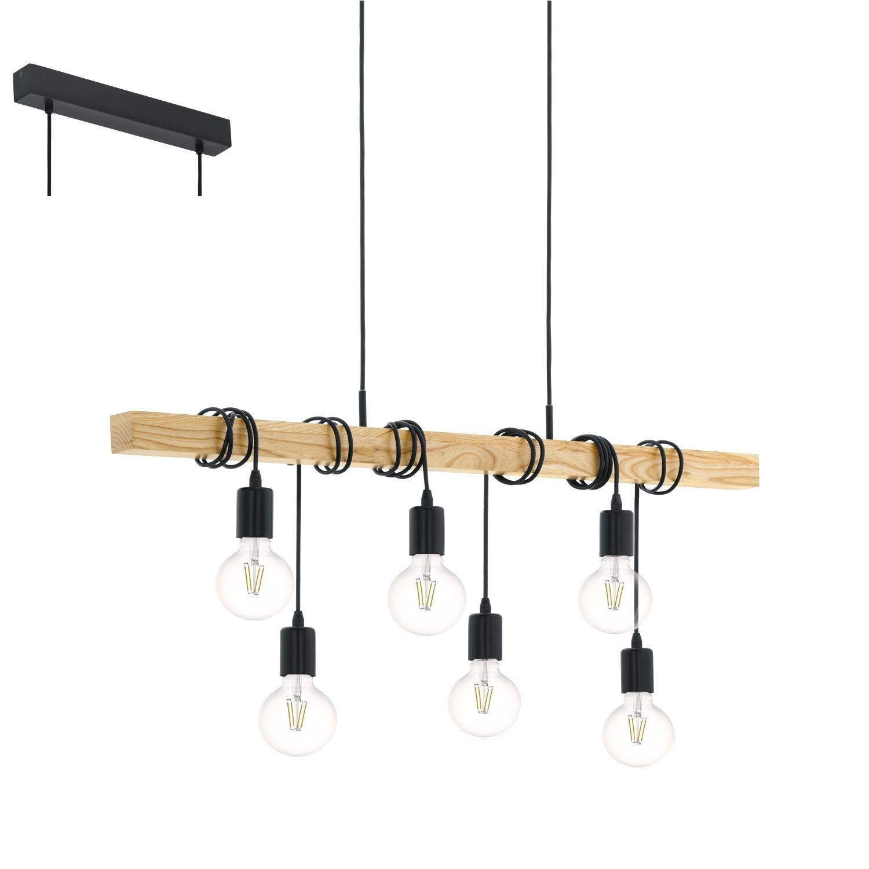 proizvod iz kategorije lampe lusteri visilice proizvoa'aaa eglo boja proizvoda crna natur od materijala aluminijum drvo po ceni od 13173 rsd