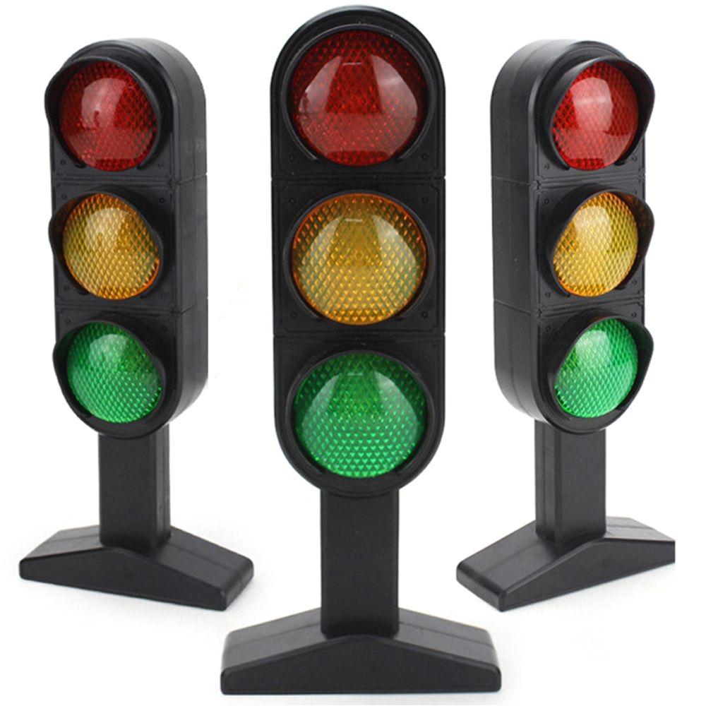 1 pcs anak lalu lintas sinyal cahaya lampu mainan waktu terbatas baru kereta slot anak juguetes