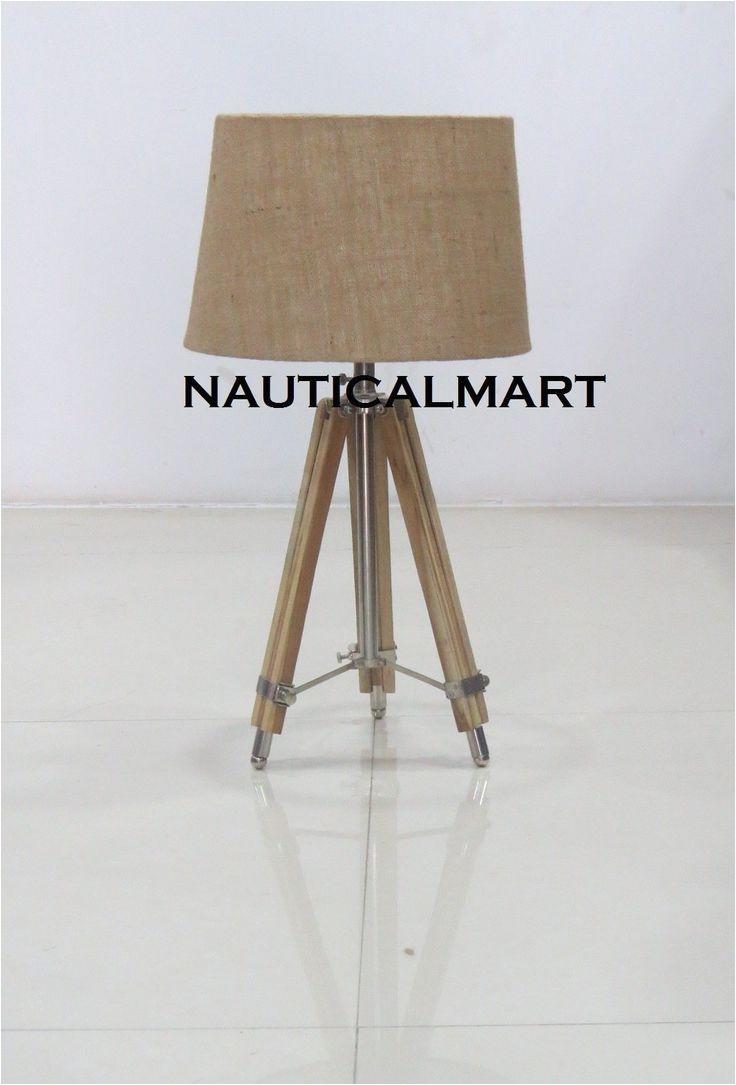 wooden tripod floor lamp wooden home decor by nauticalmart amazon co uk