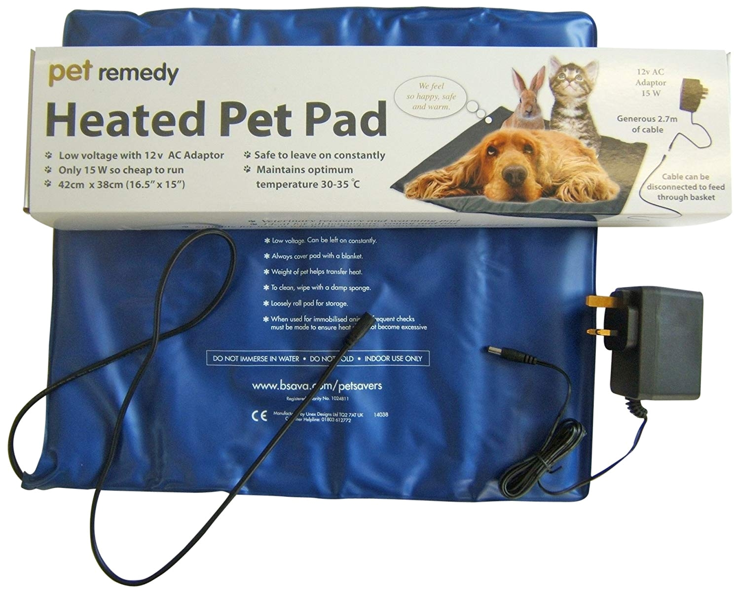 amazon com pet remedy low voltage electrically heated pet pad pet health care supplies pet supplies