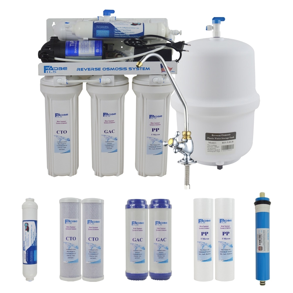 aliexpress com buy 5 stage undersink reverse osmosis drinking water filtration system 50gpd plus extra set of 4 supreme quality replacement filters from