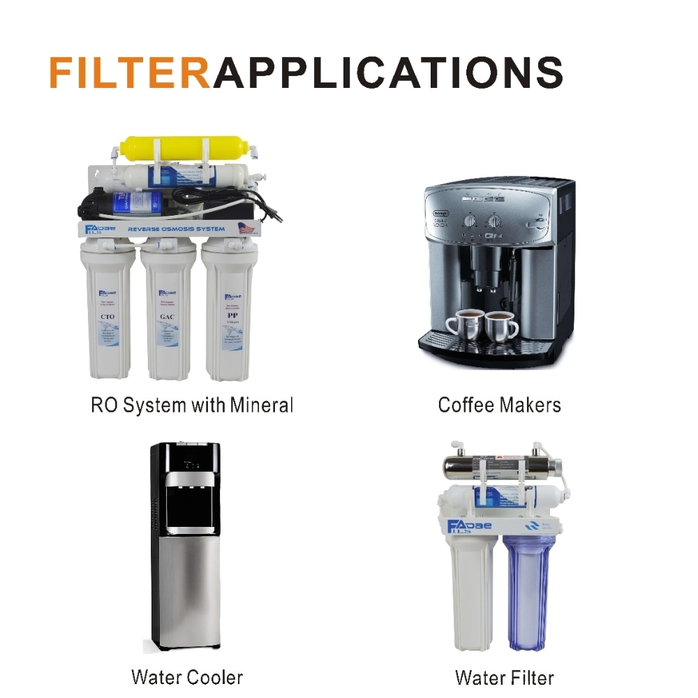 reverse osmosis system replacment filters inline remineralisation mineral water filters 2 od x 10 l 1 4 female pipe thread in water filter parts from