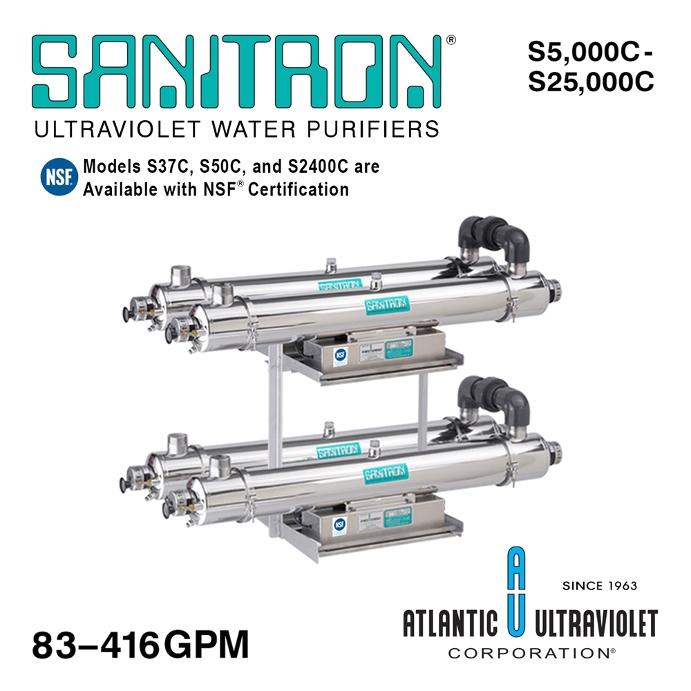 sanitrona uv water purifiers 83 416 gpm multi chamber