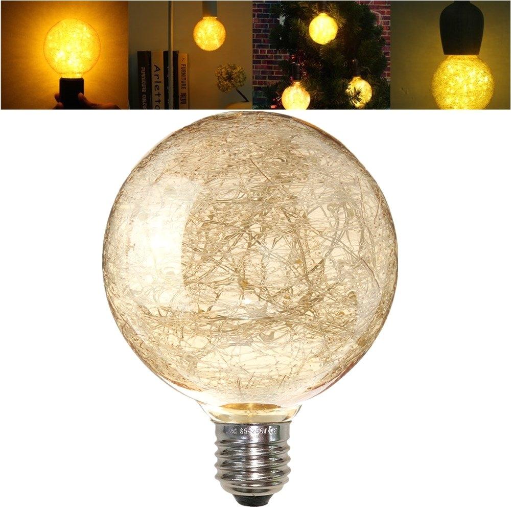 e27 g95 vintage led warm white fairy string light bulb filament lamp for decor ac85