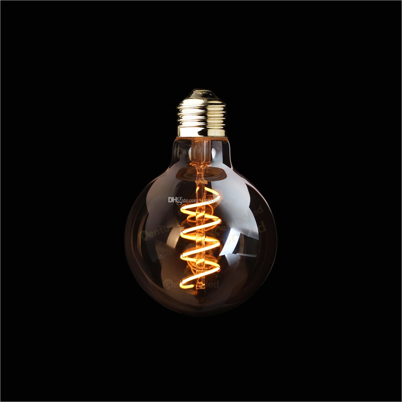 g95 amber shape3w dimmable edison spiral filament led bulbsuper warm 2200ke26 e27 basedecorative household lighting dimmable spiral filament bulb g95