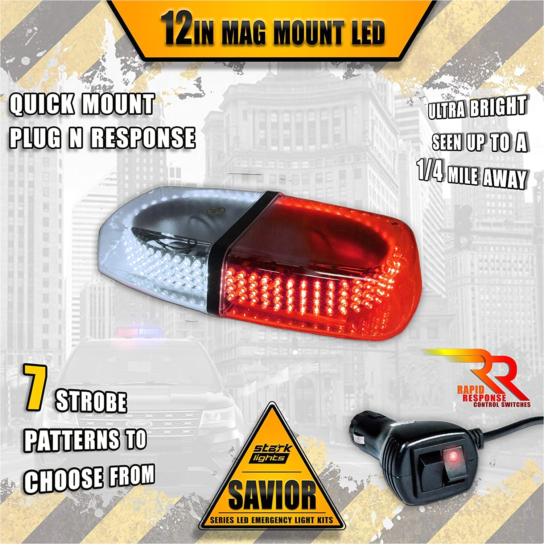 amazon com 240 led rooftop light bar emergency flashing construction police light first responder warning light bar 10ft dual rapid switch