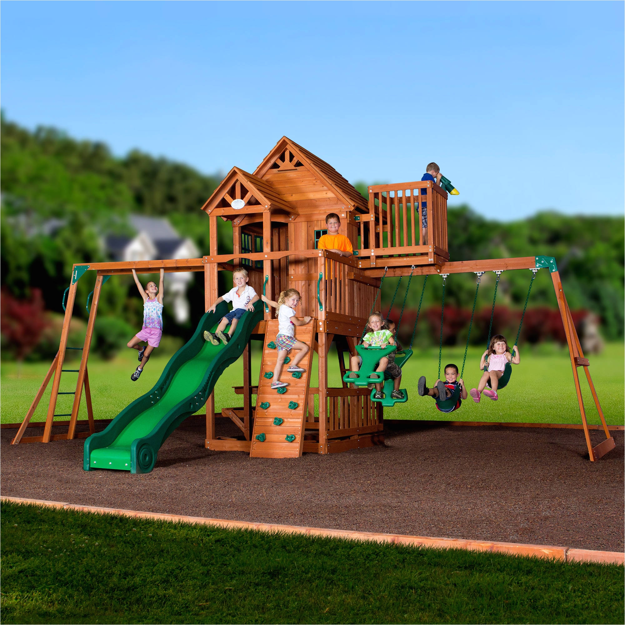 backyard swing sets walmart backyard playsets with monkey bars talentneeds