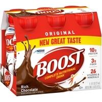 boost original complete nutritional drink rich chocolate 8 fl oz bottle 6 count
