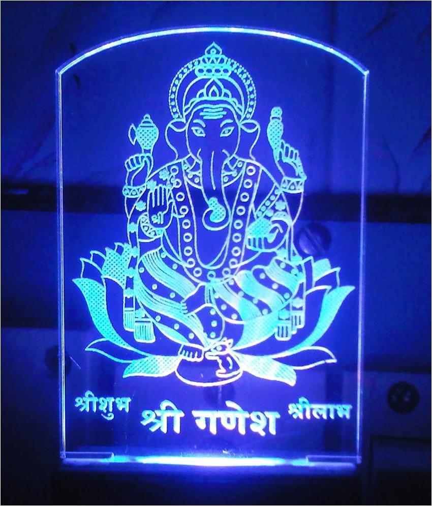 god led light in ganeshji idle