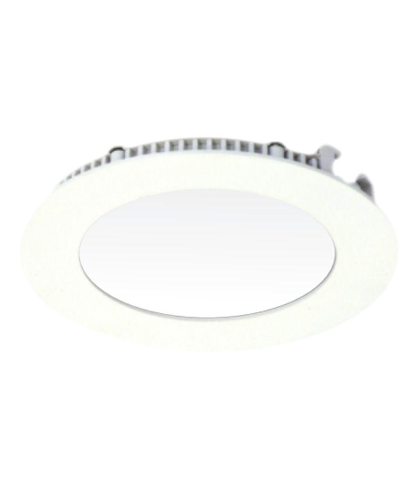 godin white round panel led light