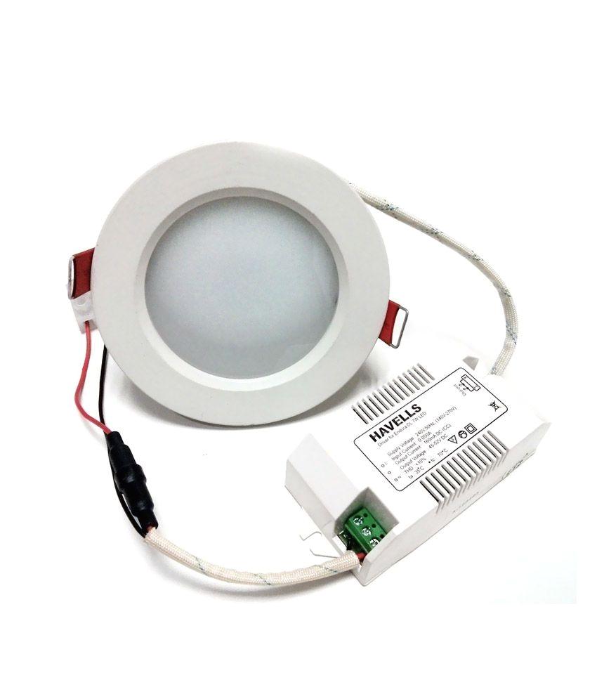 havells endura dl 7w 6k white led lights