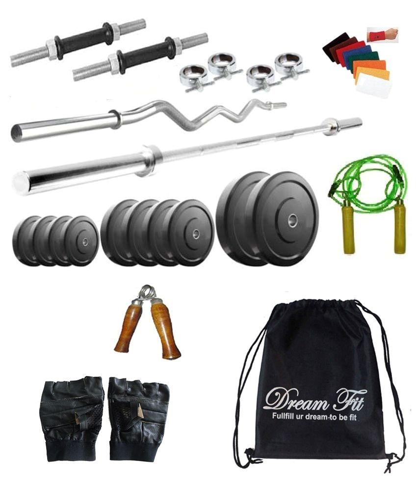 dreamfit 50 kg home gym dumbbells set
