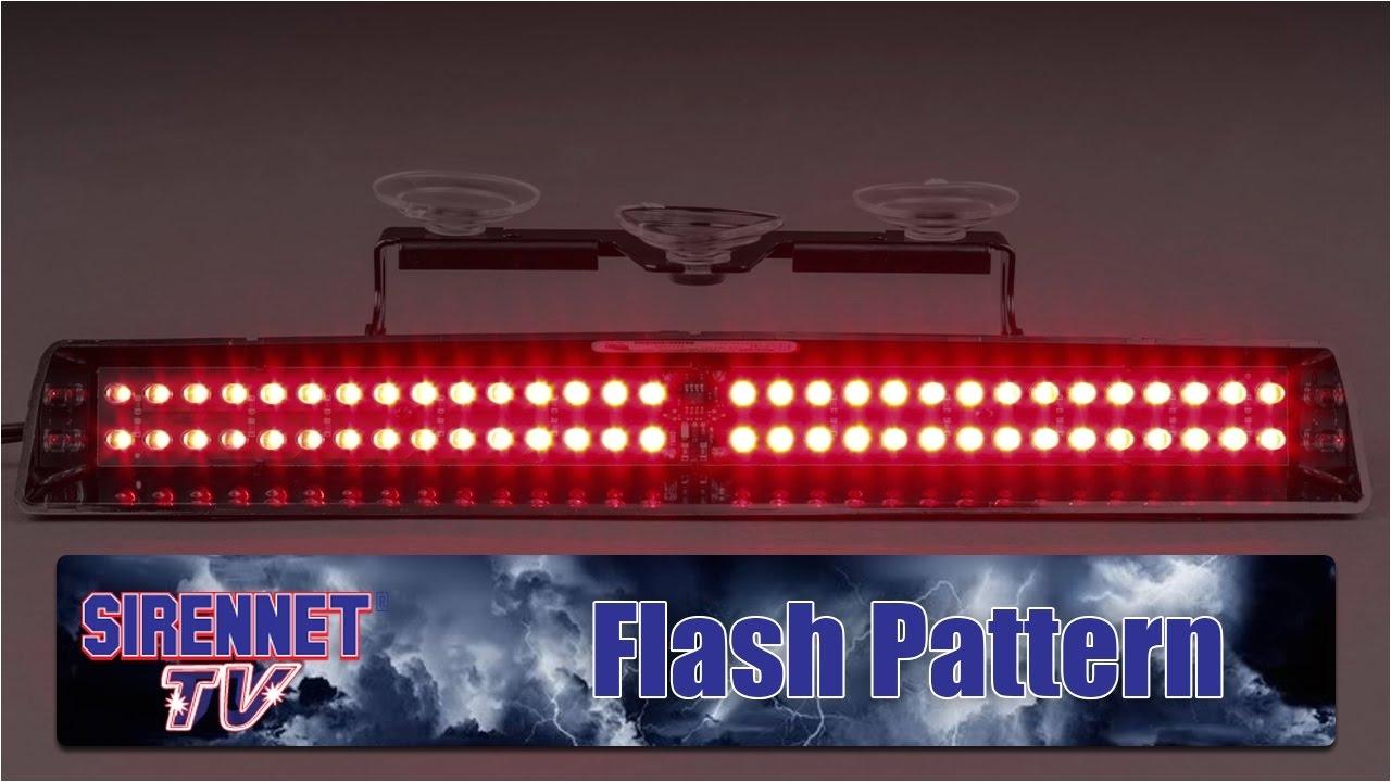 flash pattern whelen slim miser led dash light