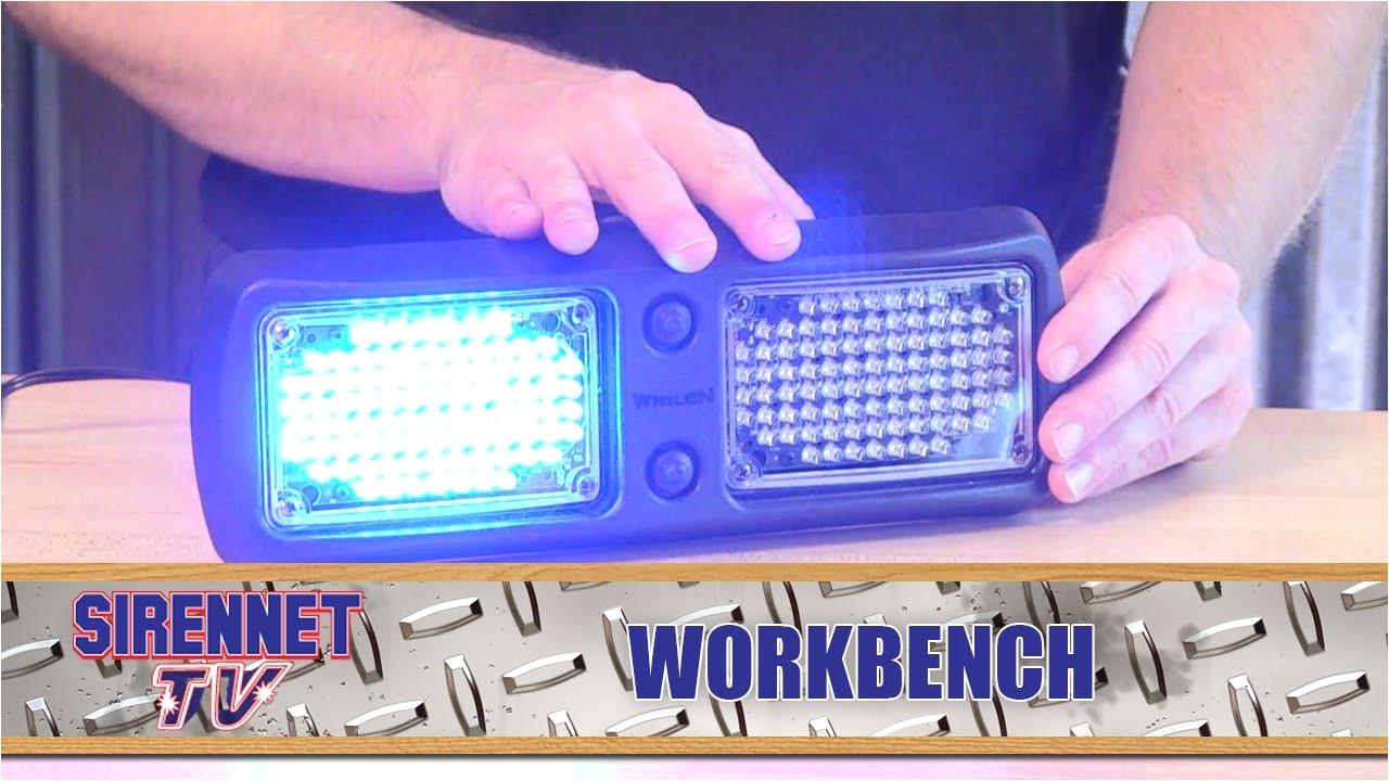 whelen flatlighter led visor light
