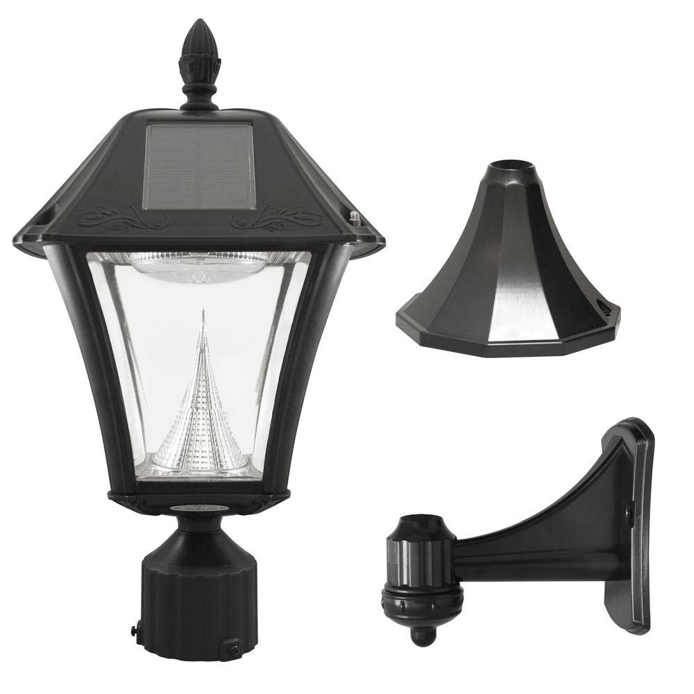 White Pvc Lamp Post solar Post Lighting Outdoor Lighting the Home Depot