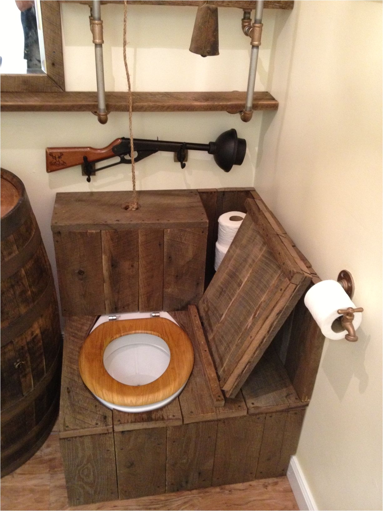 barrel sink rustic toilet opened rustic bathrooms upstairs bathrooms basement bathroom bathroom