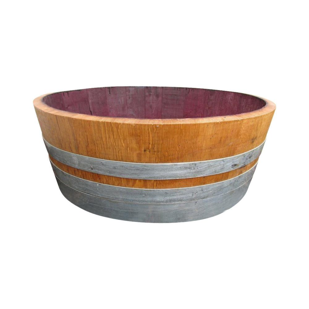 h oak wood shallow wine barrel with rebuild