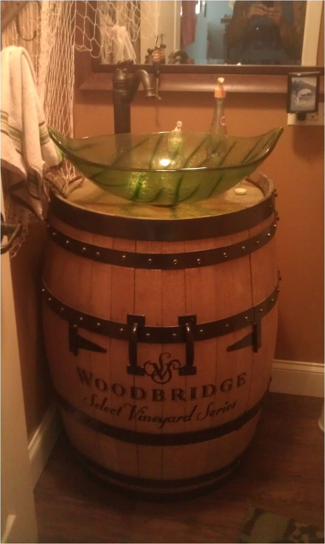 wine barrel sink wine barrel sink vanity