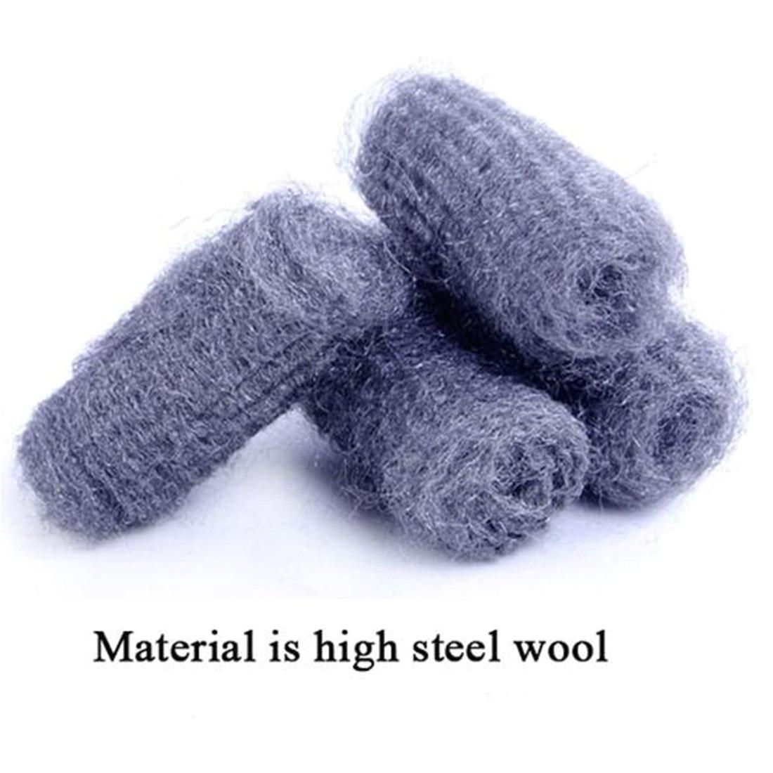 hot sale sponge metal mesh super detergent tool 12pcs lot kitchen steel wool degreasing cleaning