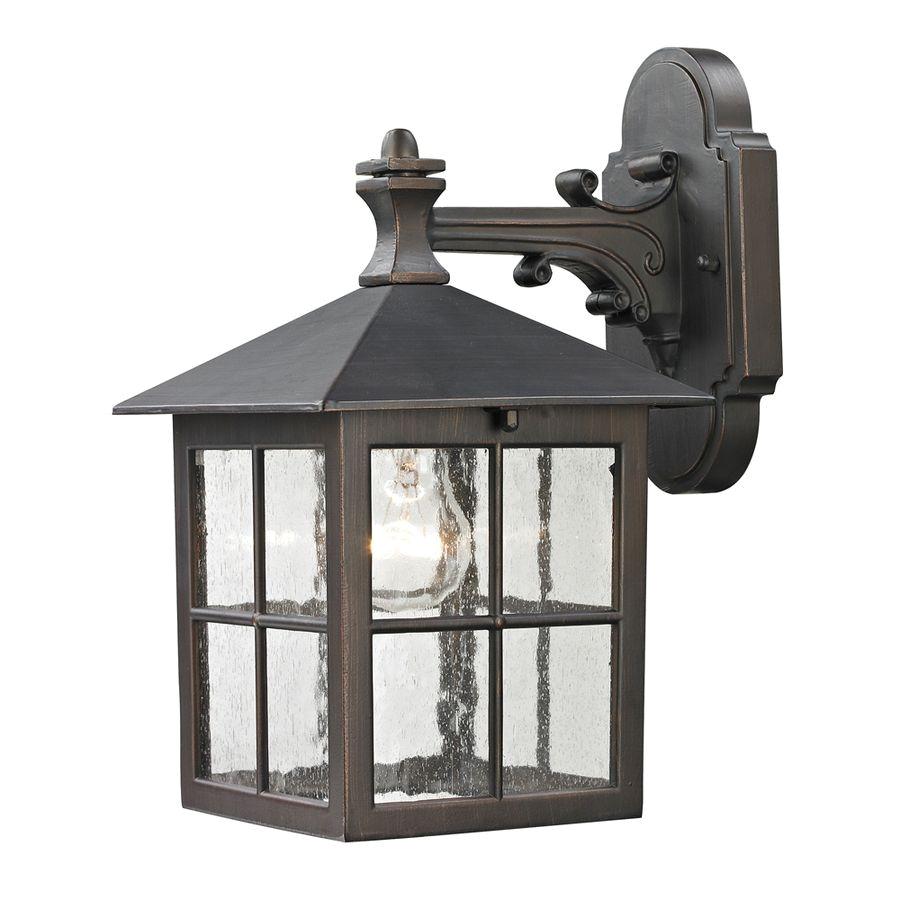 outdoor lighting fixtures lowes unique shop westmore lighting colchester 10 in h hazelnut bronze outdoor