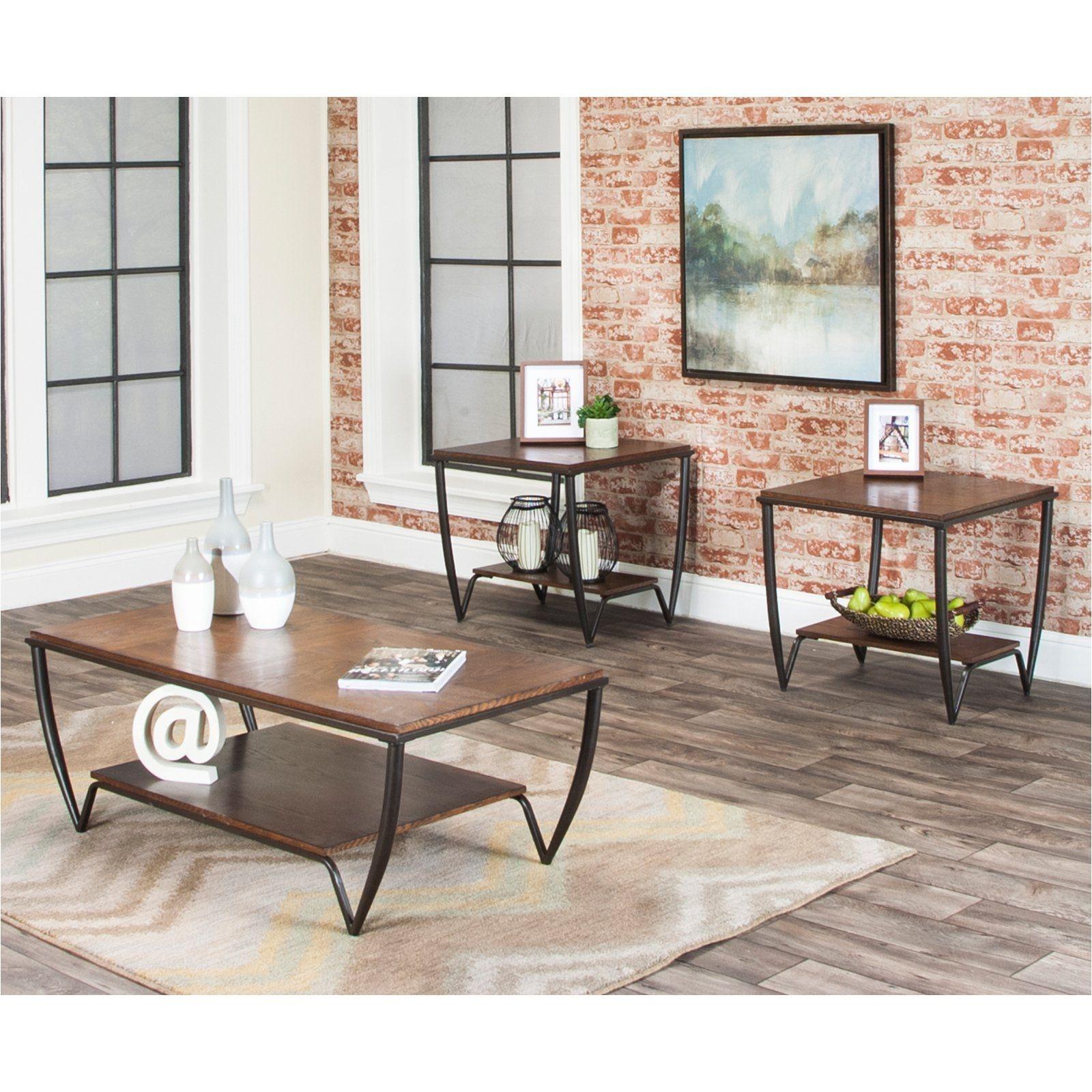 Sunset Trading Illusion 3 Piece Coffee Table Set
