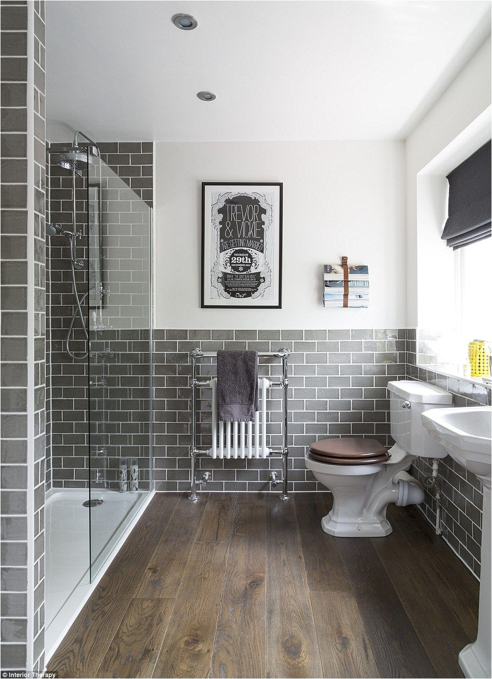 posted by Interior Therapy has been saved more than 91 000 times by Houzz users The classic but modern space features grey tiles and a personal