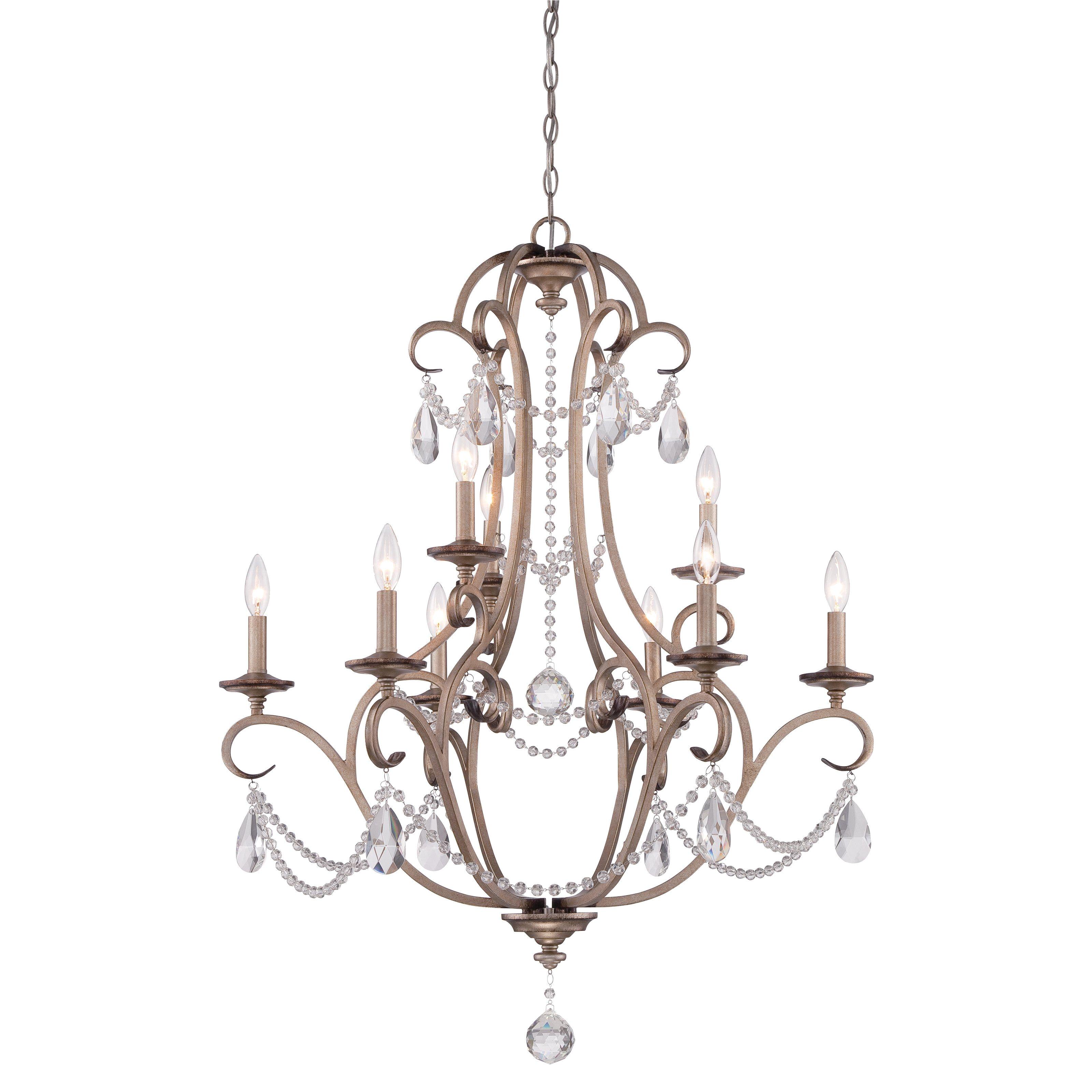 Designers Fountain Gala 9 Light Chandelier $898