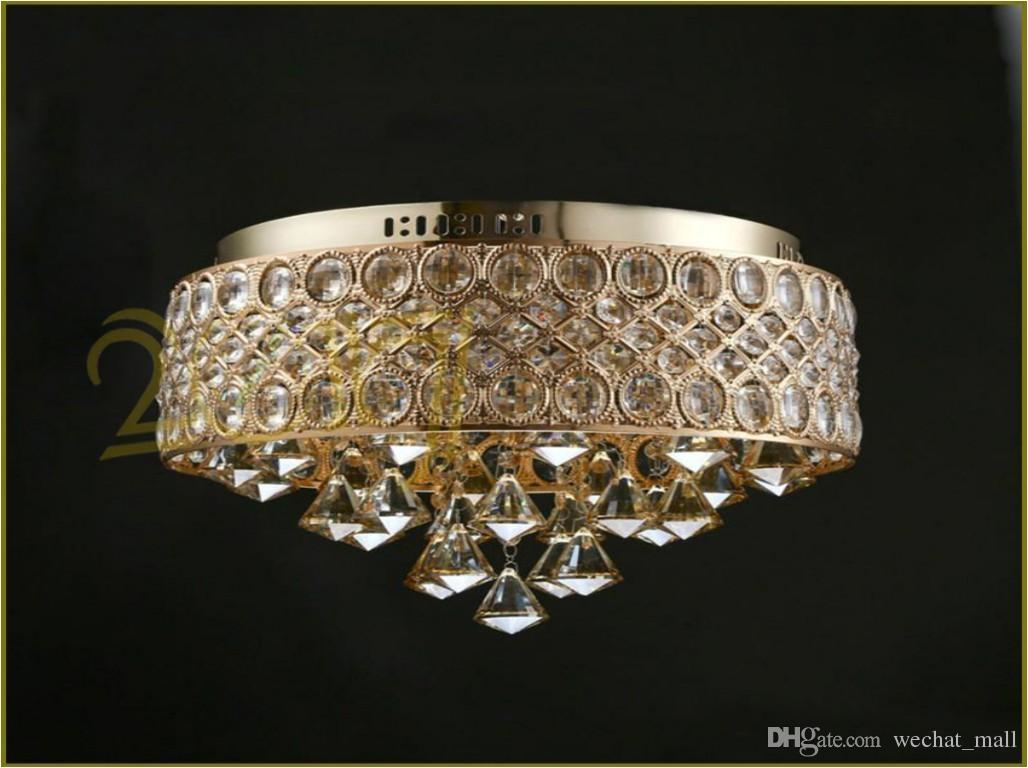 Luxury Crystal Chandelier Gold Crystal Ceiling Mount Light Fixture Living Room Bedroom E12 E14 Lights 110V 220V D 15 X H 12 Pendant Lighting Vintage