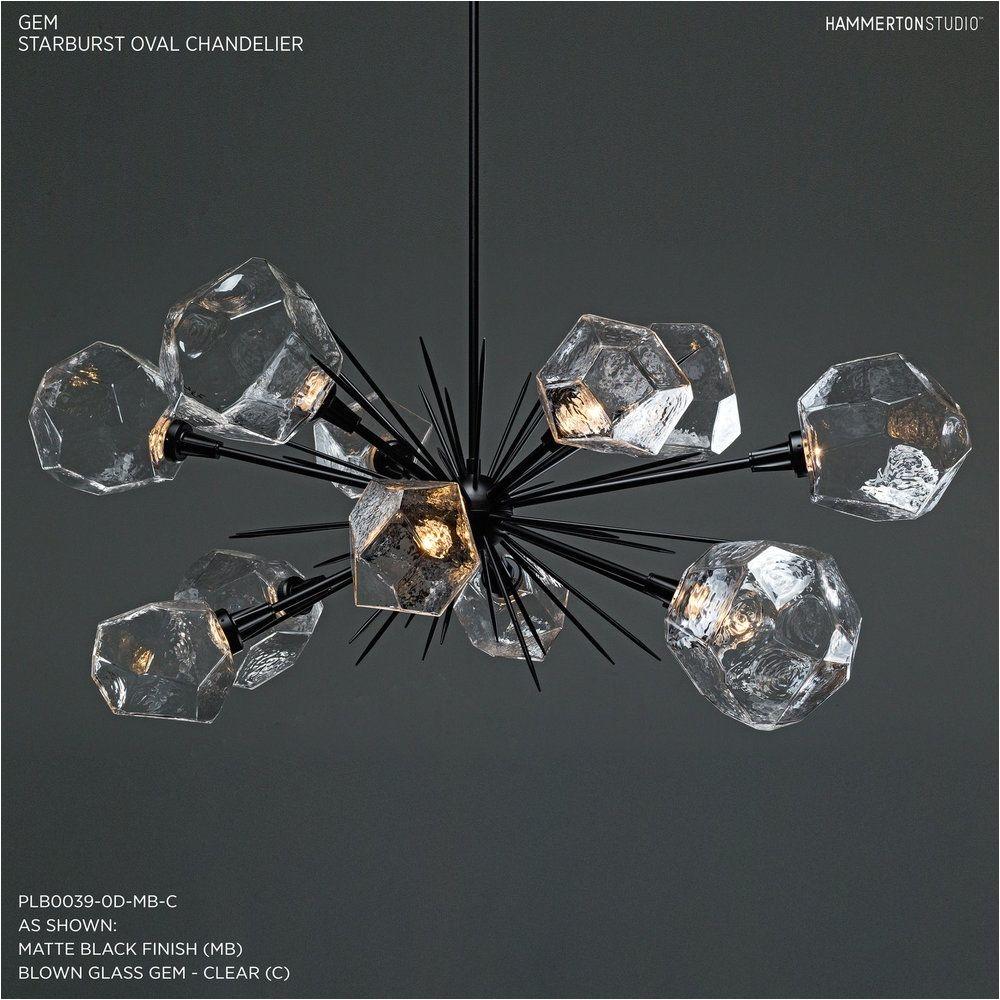 "Ceiling Lights and Chandeliers Gem Oval Starburst Chandelier 48"" Plb0039 0d"