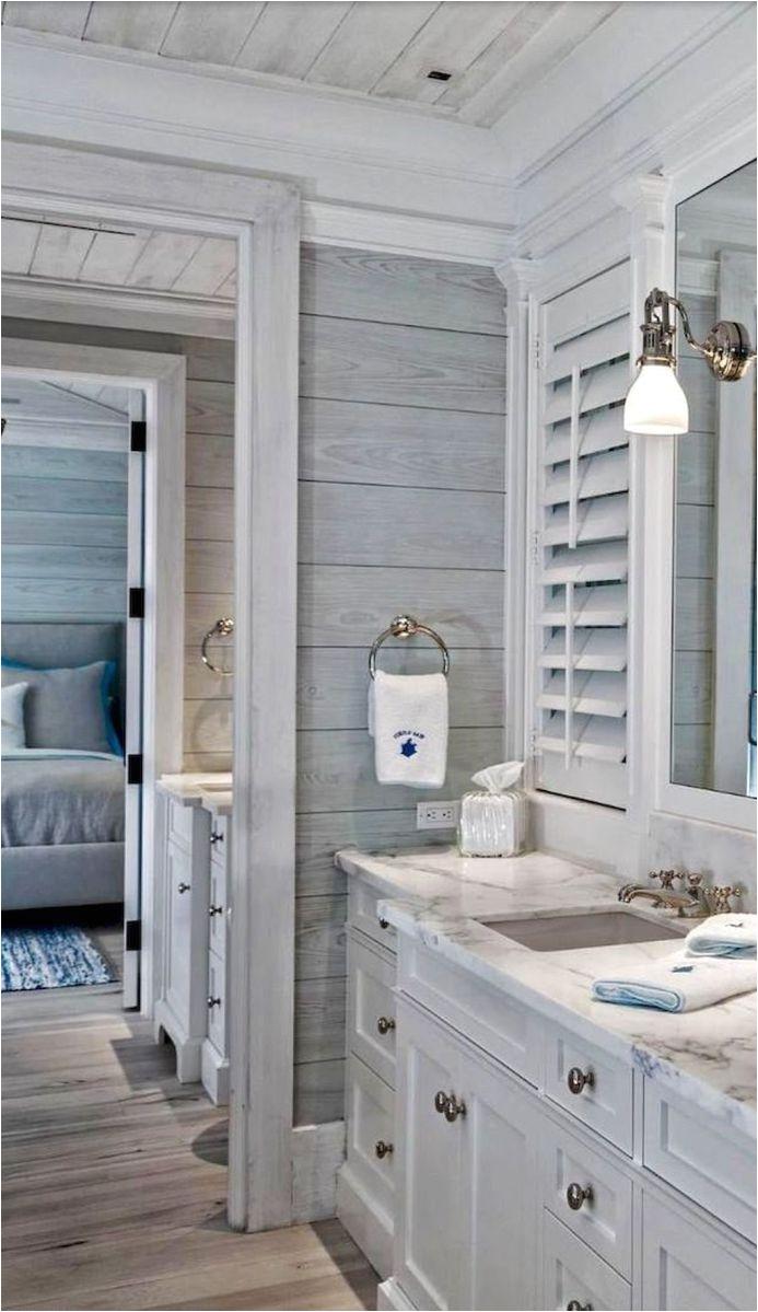 Awesome coastal style nautical bathroom designs ideas 35