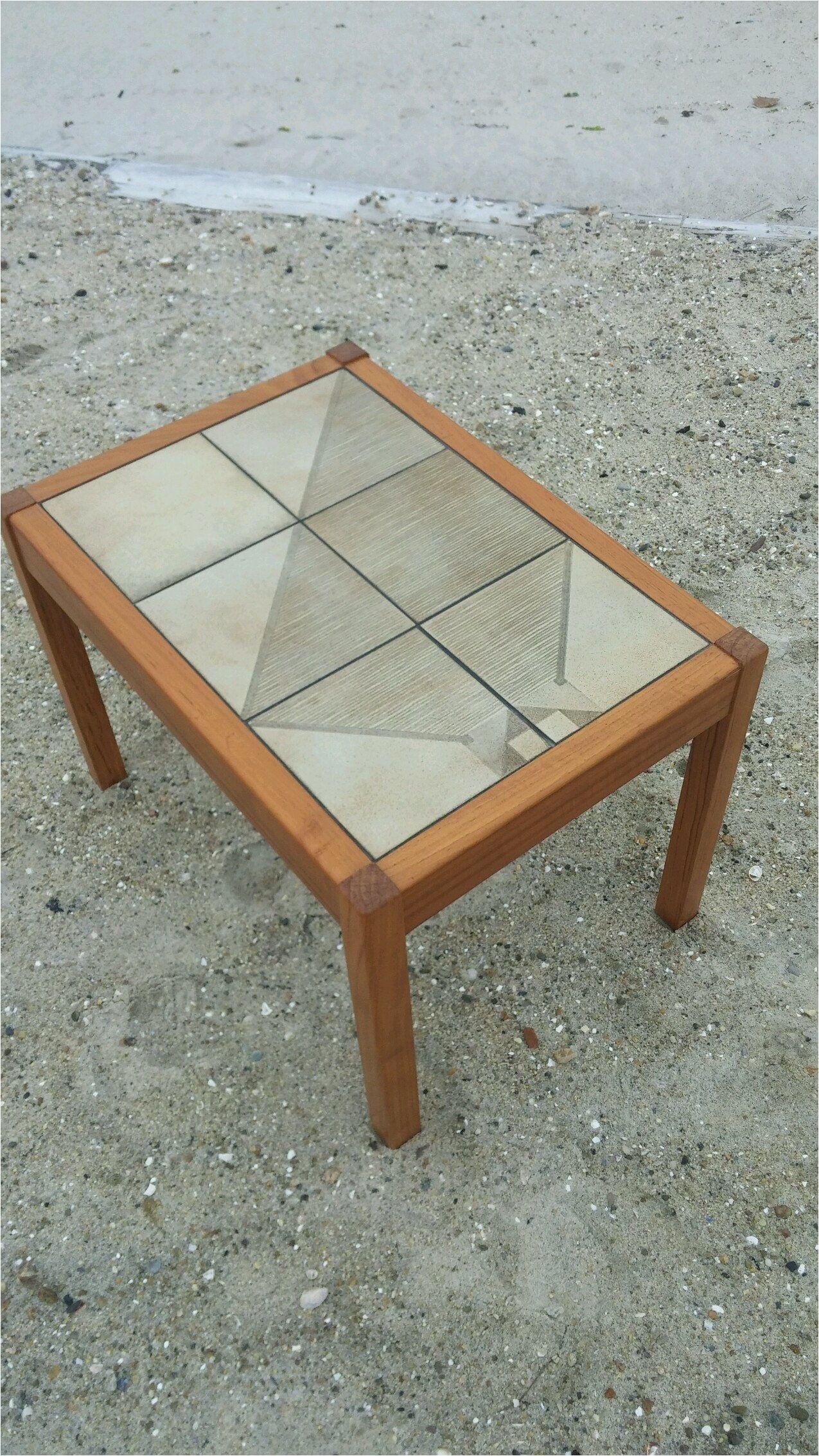Vintage Mid Century Modern Danish Gangso Mobler Teak Tile Top Side Table Gangs¸ M¸bler A