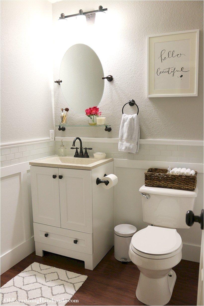 Incredible half bathroom decor ideas 25