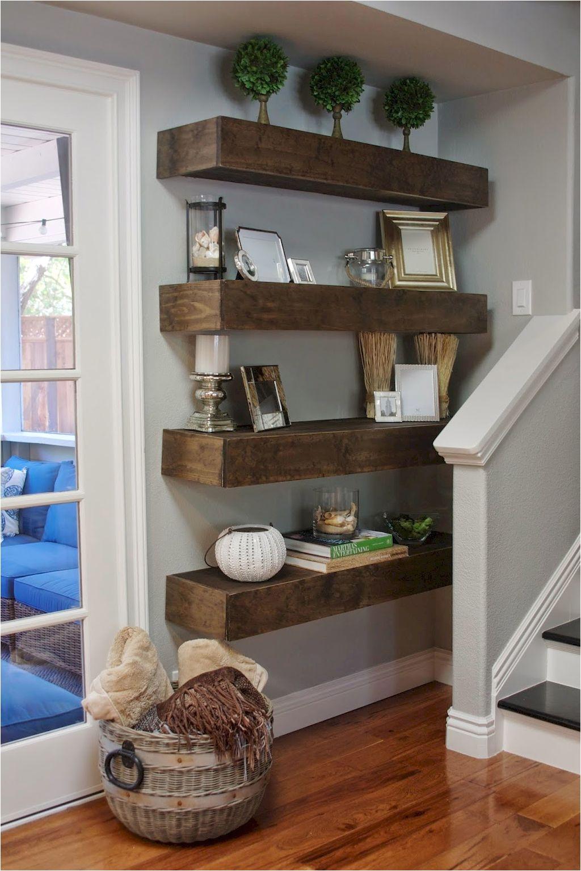 Awesome 80 DIY Floating Shelves for Living Room Decorating diy floating shelves living room decorating