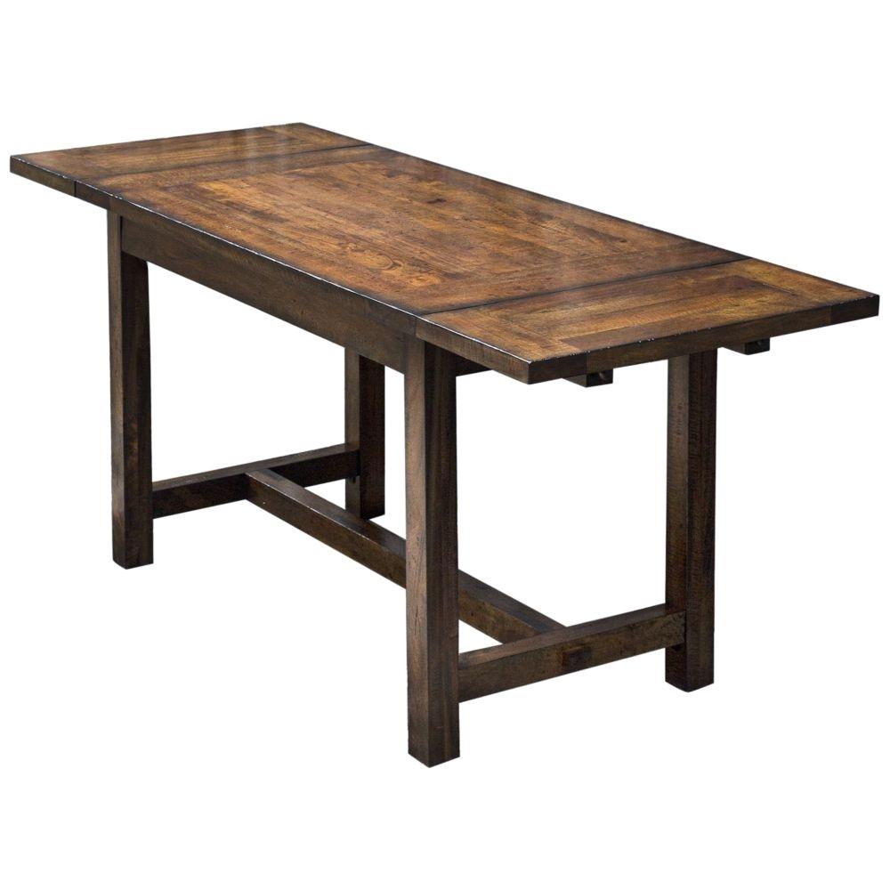 Uttermost Fairbanks Brown Oak Wood Drop Leaf Cafe Table 32V83