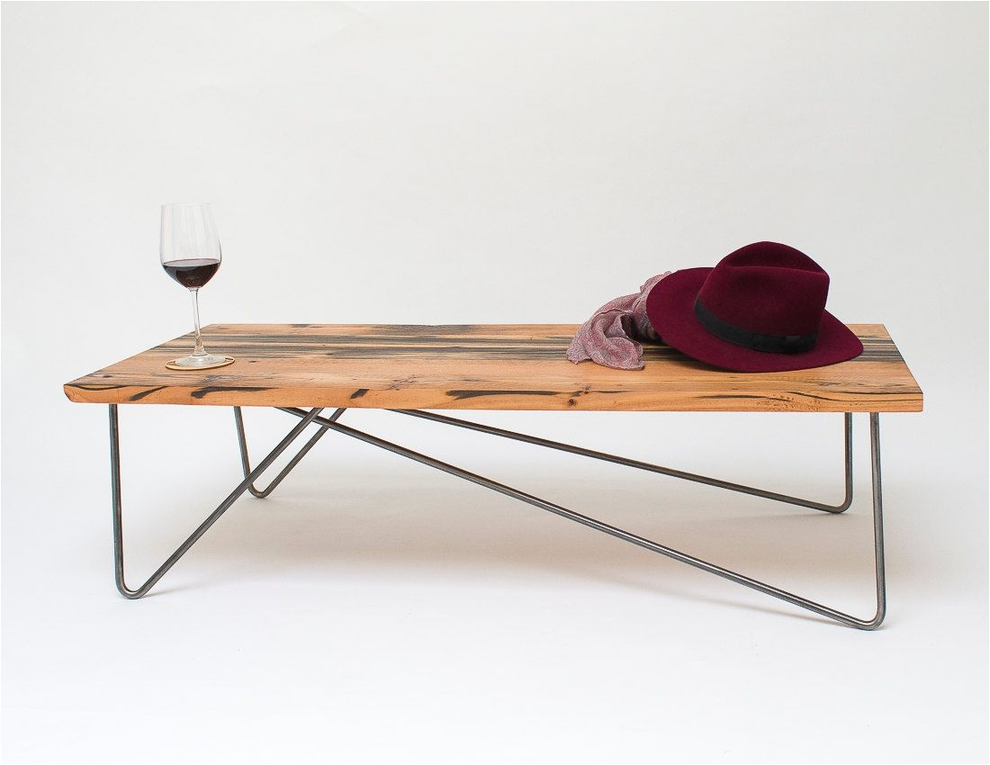 raw maple wood hair pin leg coffee table Google Search