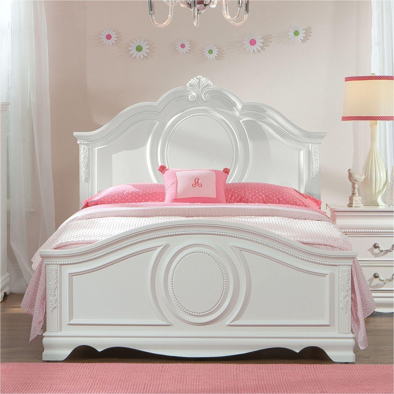 Standard Furniture Jessica Panel Bed White STFM706