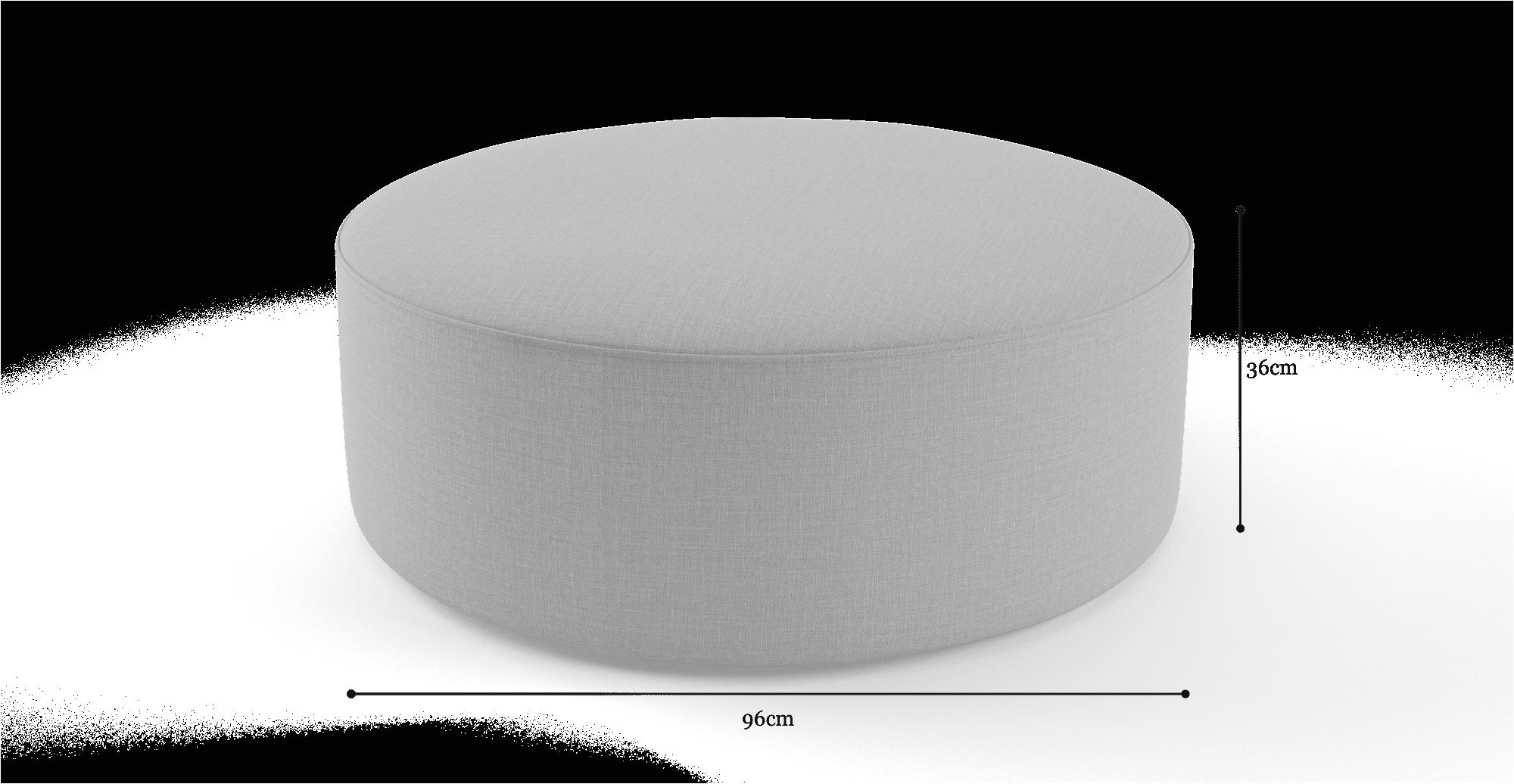 Alexa Round Ottoman
