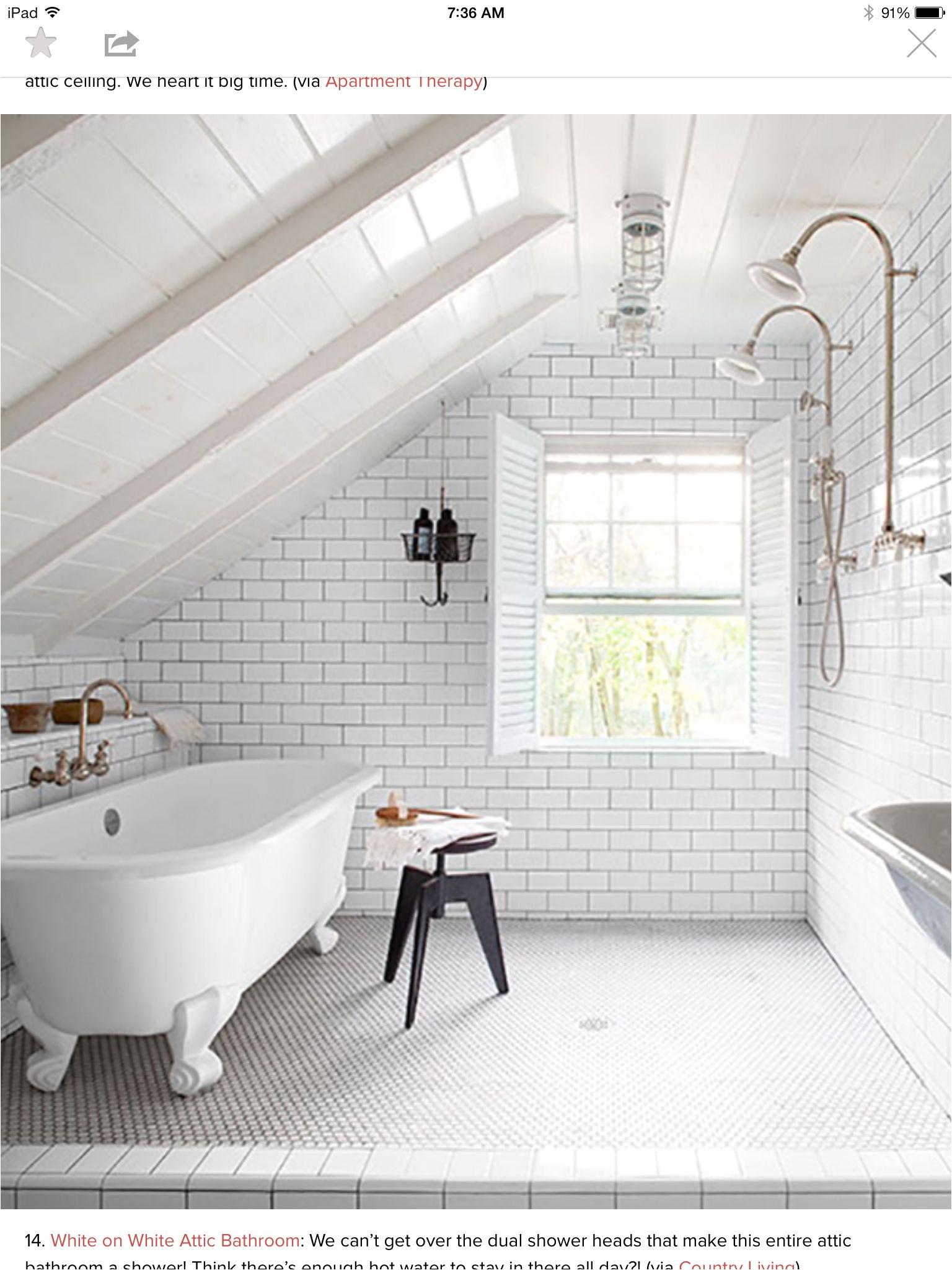 Attic bathroom Master Bathroom Loft Bathroom Bathroom Plans Bathroom Interior Bathroom Ideas