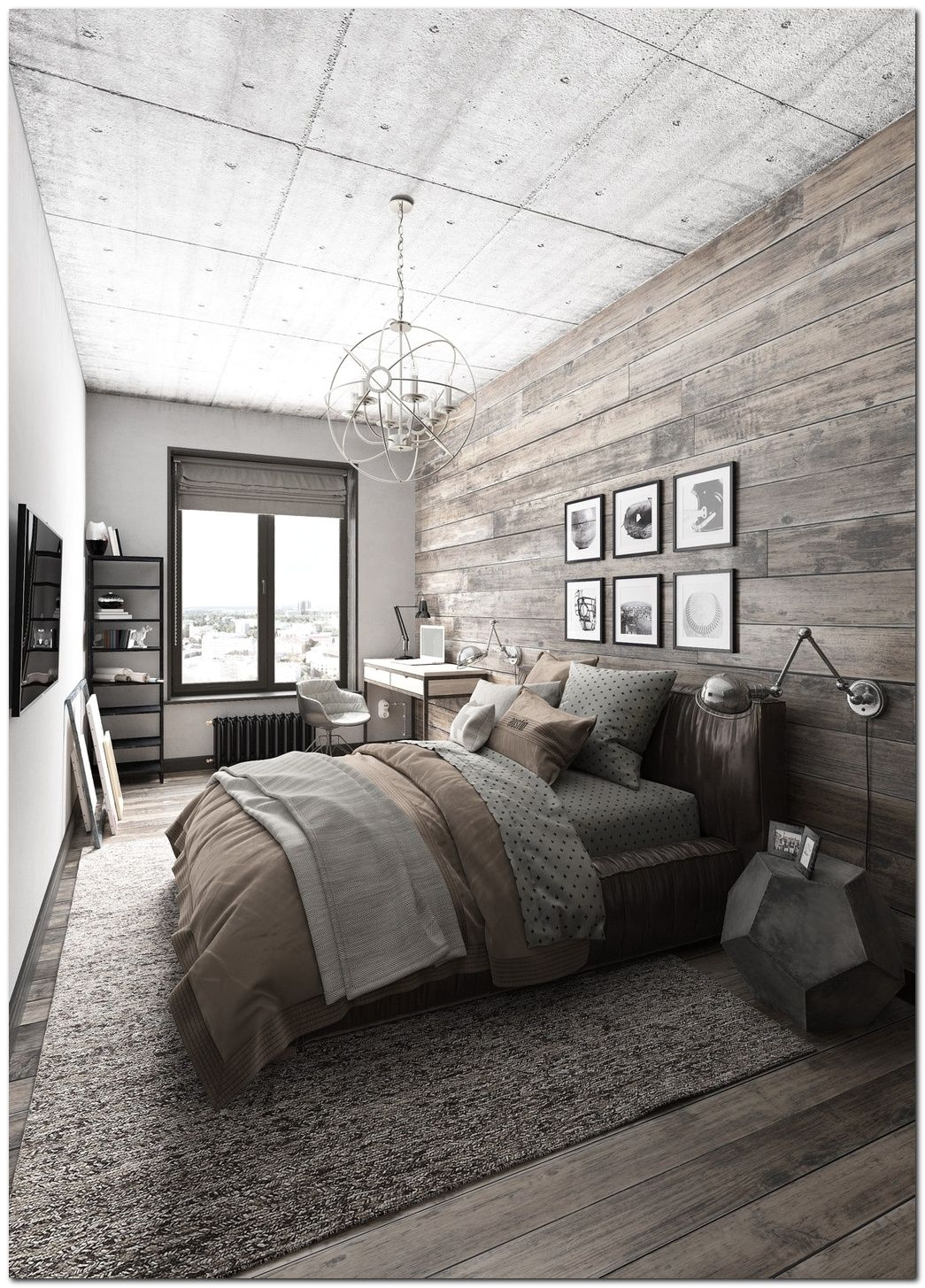 Master Bedroom Suite Designs 70 Ideas for Industrial Bedroom Interior