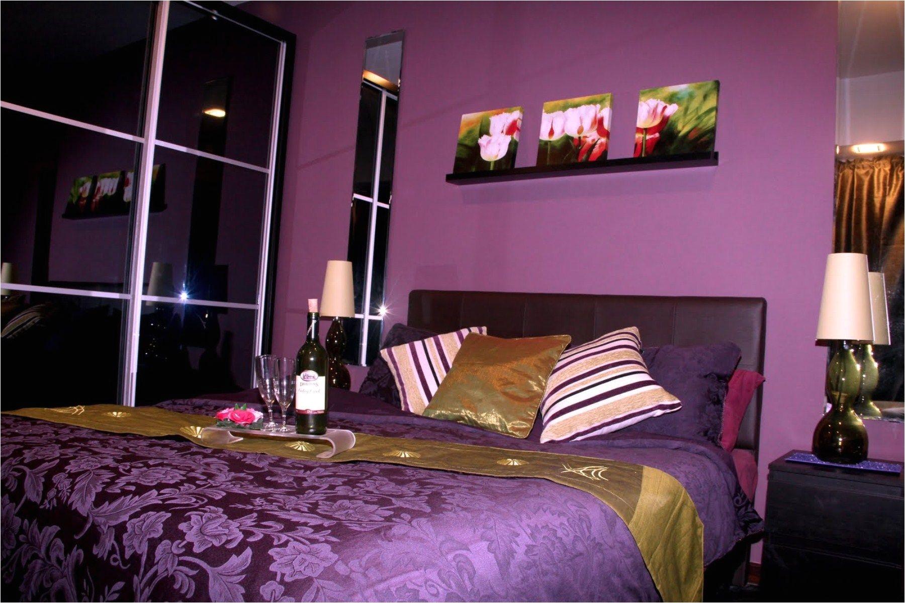 Bedroom Romantic Purple Bedroom Ideas For Valentine Days With Black Furniture Design Purple Bedroom Ideas for Teenage Girls