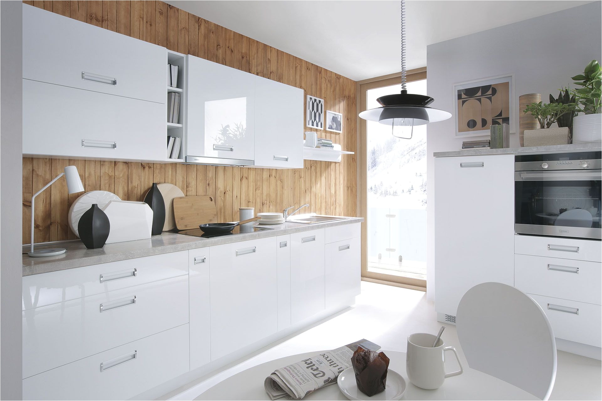 Gorgeous Modern Black Kitchen Cabinets And Kuchy…‹†a Family Line Od Black Red White Kuchyna Kitchen Design Ideas